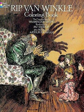 Rip Van Winkle Coloring Books For Children Washington