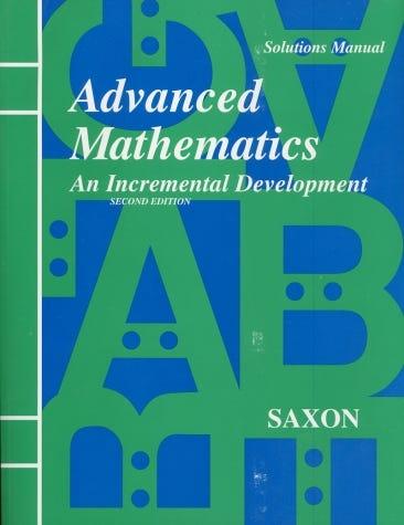 Saxon Advanced Mathematics Learning Advanced Mathematics