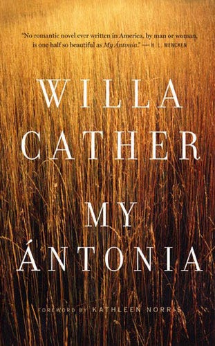 the use of weather in my antonia a novel by willa cather Struggling with the themes of willa cather's my ántonia we've  the natural  landscape and the weather both play a large part in setting the atmosphere and.