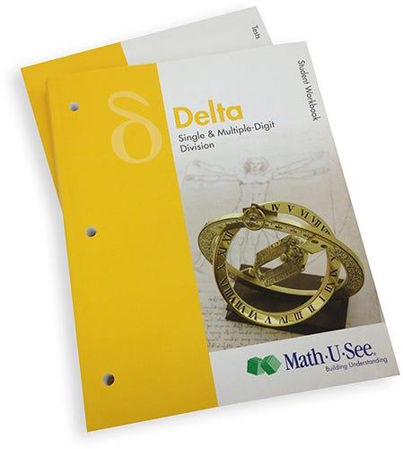math u see delta student workbook tests
