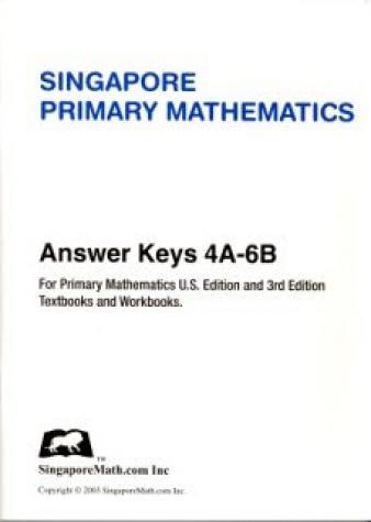 Singapore Math® Answer Key, Levels 4-6